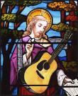 jesus playing guitar